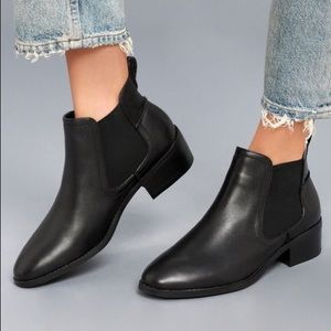 Steve Madden Chelsea Boots Black Leather Dicey